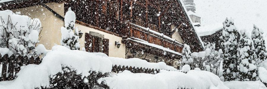 Importantes chutes de neige à Combloux