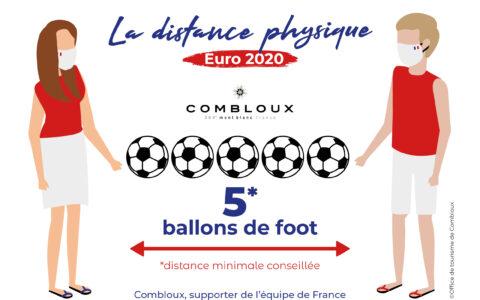 La distance physique spéciale Euro 2020 à Combloux